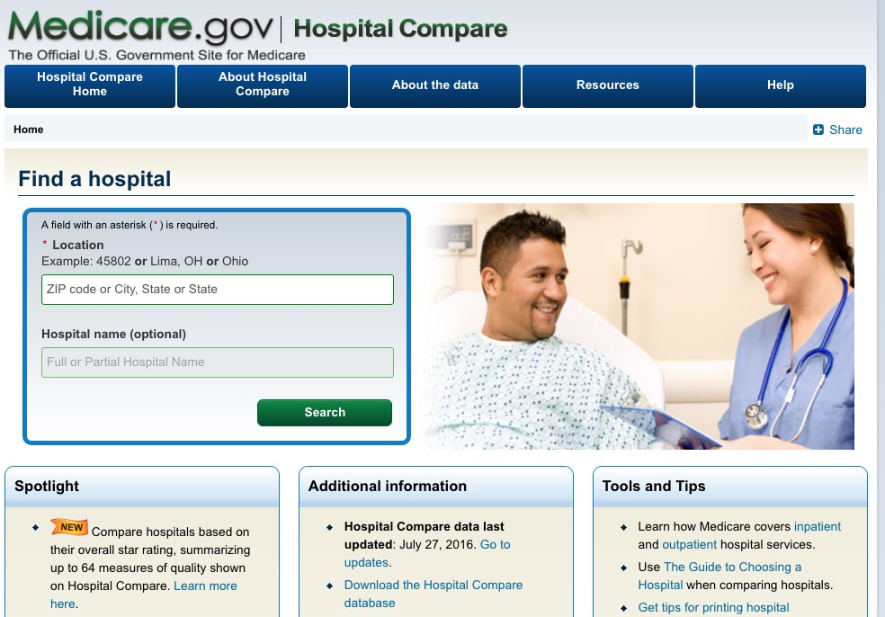 CMS announces Hospital Compare Star Rating database...at ...