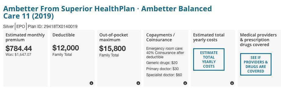 Ambetter Balanced Care 2 2019