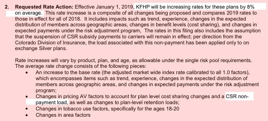 Colorado Preliminary 2019 Aca Rate Hike Request 6 0
