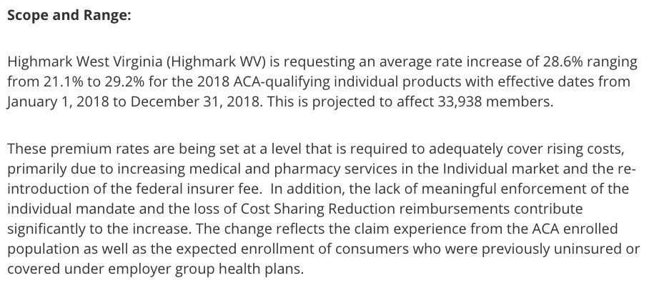 2018 Rate Hikes West Virginia 17 8 W Out Csr Sabotage