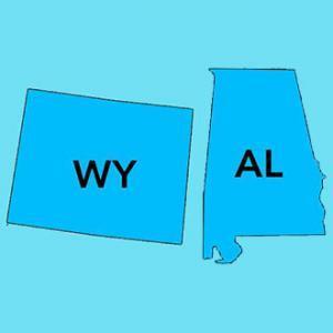 Alabama & Wyoming Icons